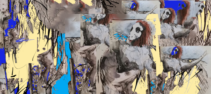 Collage-from-existing-drawing-#2